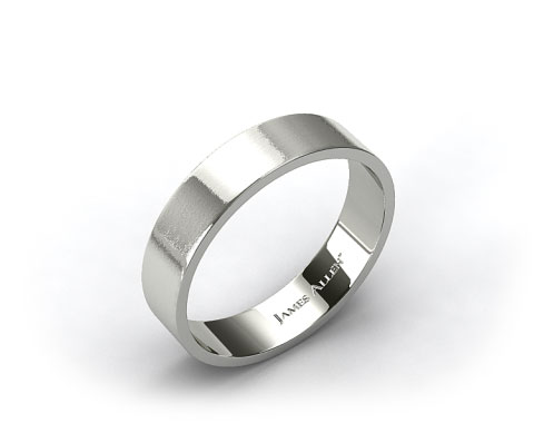 Platinum 6mm Flat Satin Finish Comfort Fit Wedding Band